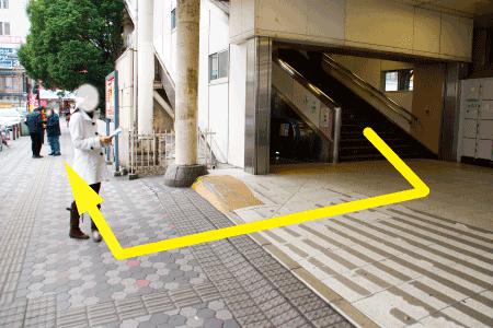 階段を降りたらぐるっと蕨方面へ回ります。